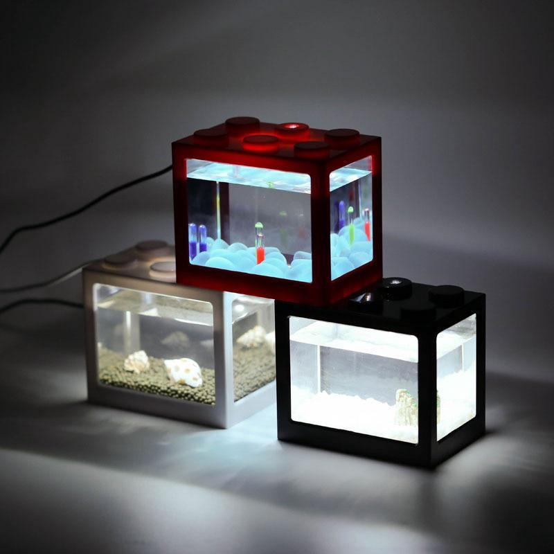 Fish Fighting Cylinder Fish Cylinder Mini Aquarium Building Block Fish Tank New Aquariums & Tanks