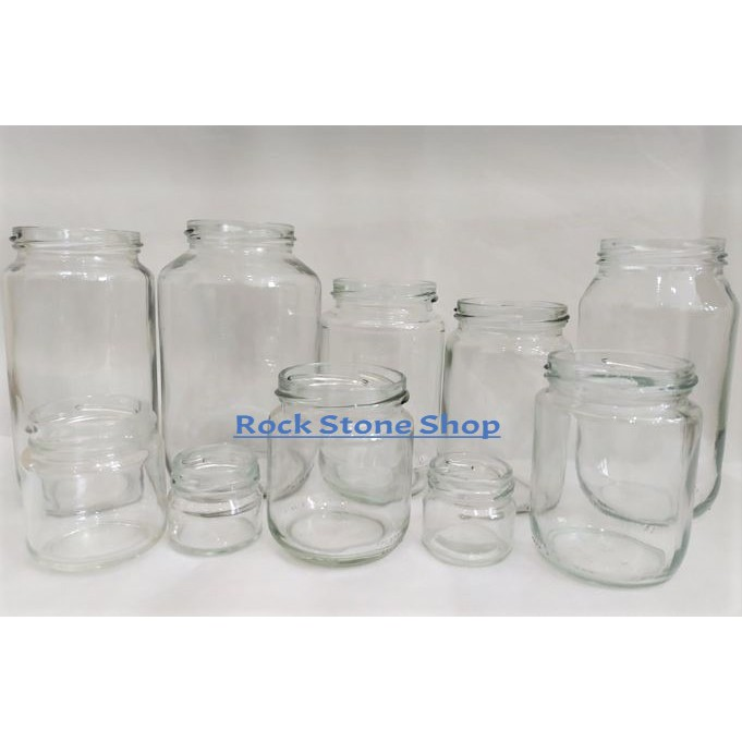 Round Glass Jar Mini Bottle Air Tight Storage Container For Sweet Spices Door Gift Honey | Botol Kaca Bulat | 圆形玻璃小罐子