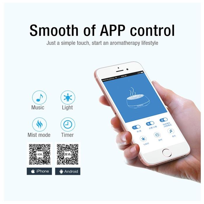 MALAYSIA: 400 ML 18 jam ALAT PENYEGAR udara Bluetooth Music Aroma Diffuser