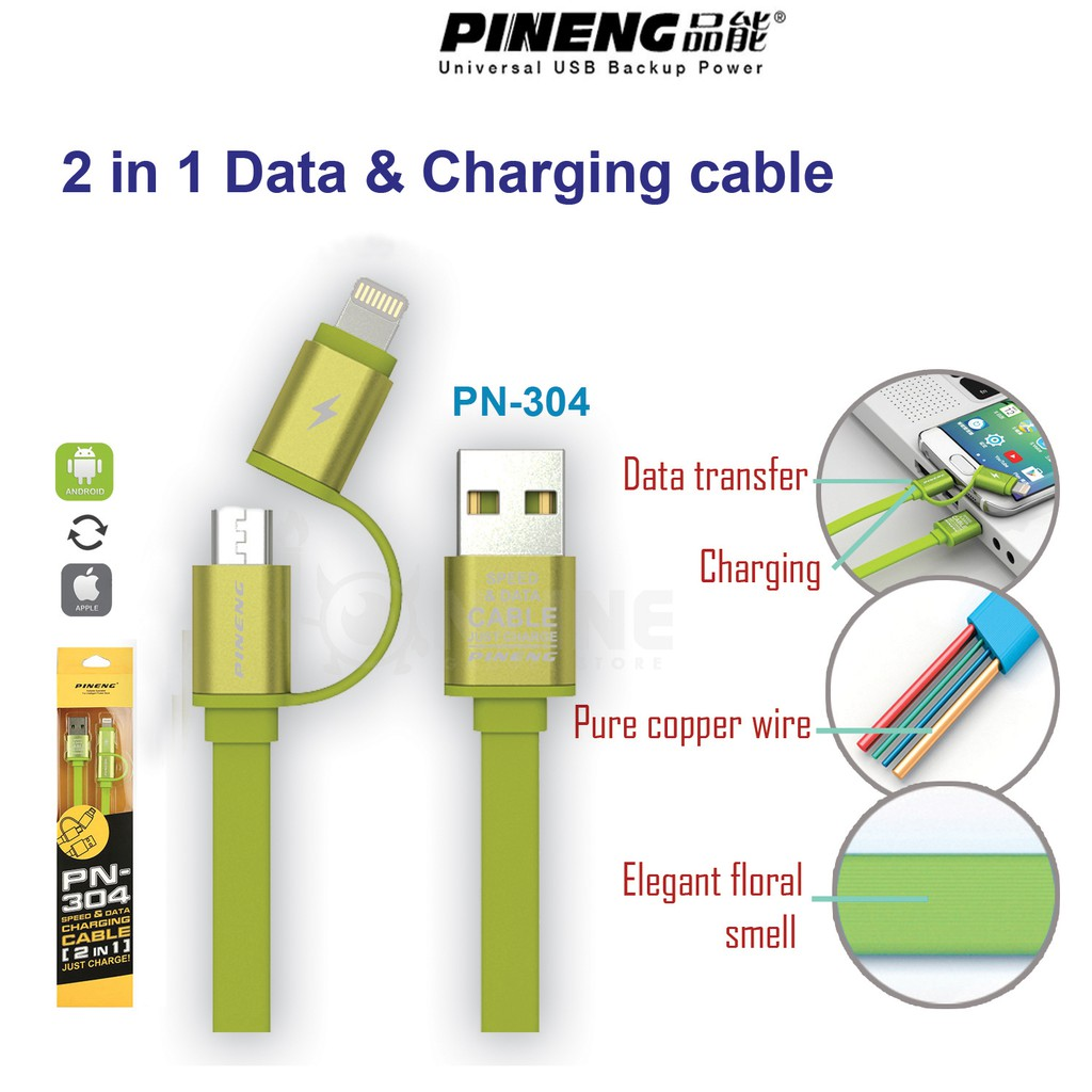 Phone Cable Quick Fast Charge Android Micro Usb Iphone In 1 Kabel 2 Ampamp Data For And 100cm Blind Inserted Shopee Malaysia
