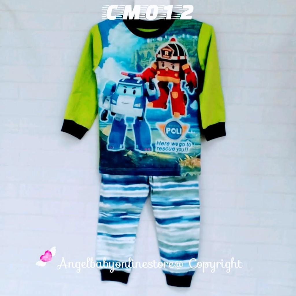 Mcqueen Cars Sleepwear Cm011 Shopee Malaysia Baju Overall Mqueen