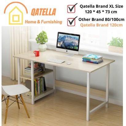Qatella Waterproof Anti-Scratch Study Table/Computer Table/Office Table/Meja Belajar Dengan Rak Buku/Meja Computer