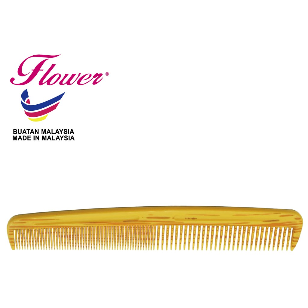 Flower Brush Wood Printing Colour Comb Hair Styling Made in Malaysia (Sikat/Berus Rambut/Balung/Sisir)