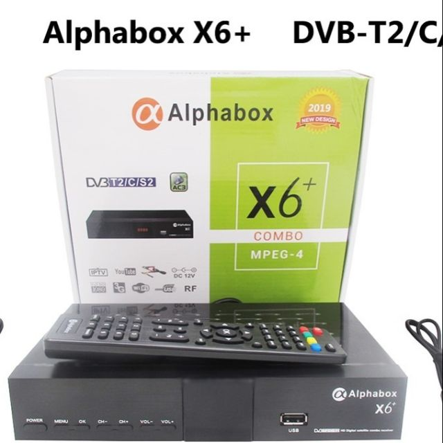 Alphabox X6 2019 Version Combo decoder support Ninmedia
