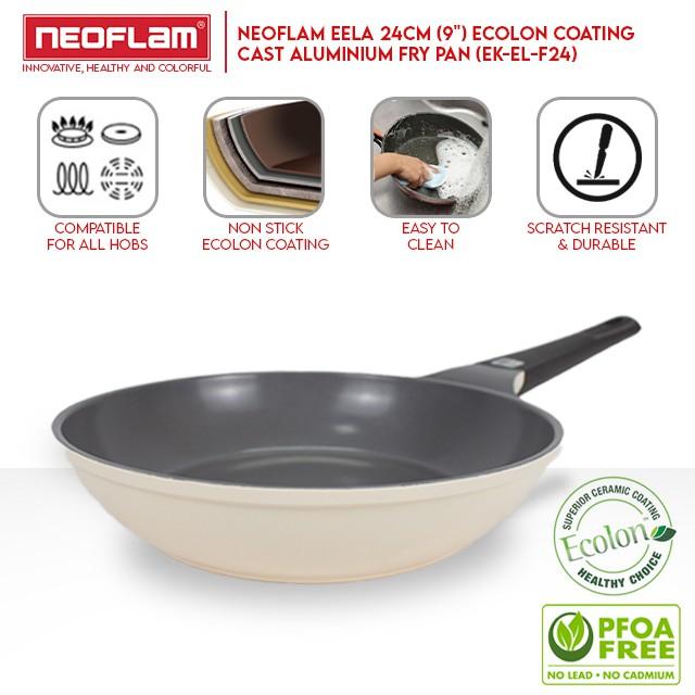 """NEOFLAM Eela Ecolon Coating Cast Aluminium Fry Pan (24cm/9"""") EK-EL-F24"""