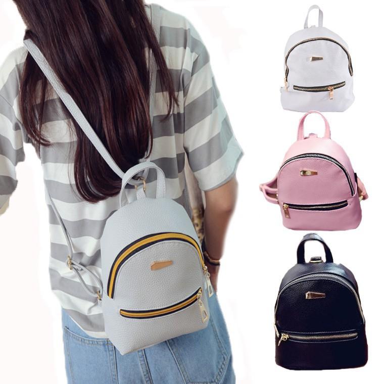 c9ba9c3c007 Women Cute Leather Mini Backpack for teenage girls small bag