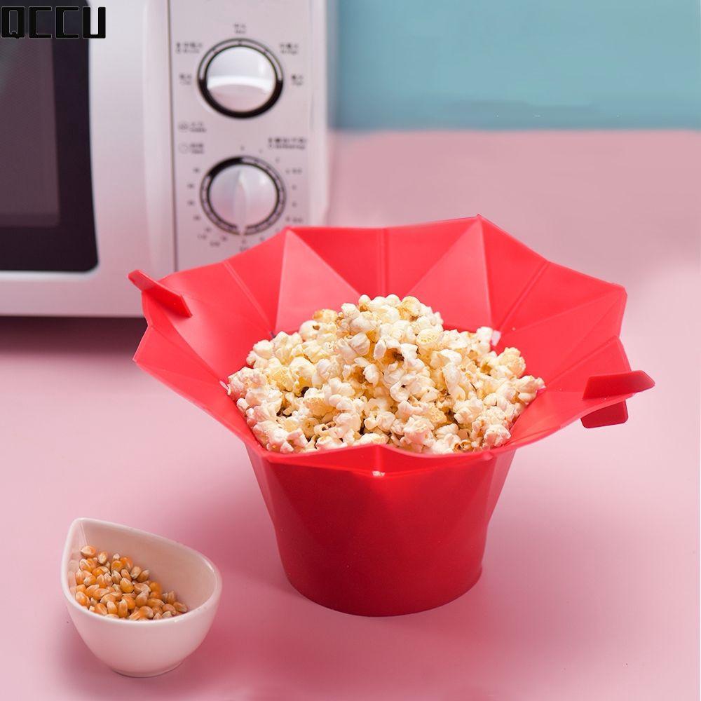 in stock popcorn maker diy silicone microwave popcorn maker fold bucket kitchen tool