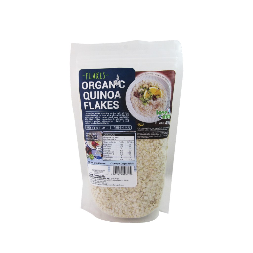 Organic Quinoa Flakes 400g