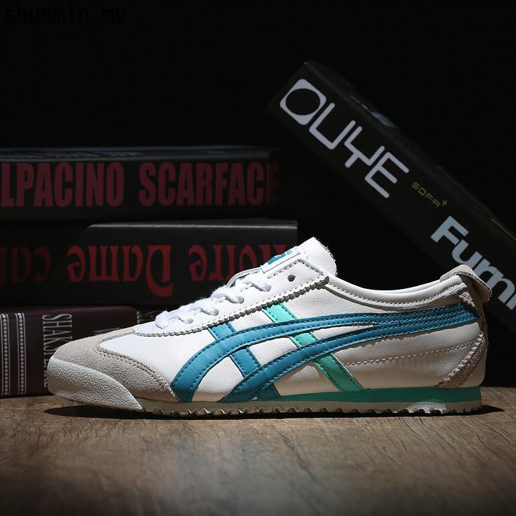 super popular 106ca 74d9a Asics/Onitsuka Tiger MEXICO 66 White/Blue(Leather) Shoes Men/Women Size  36-44