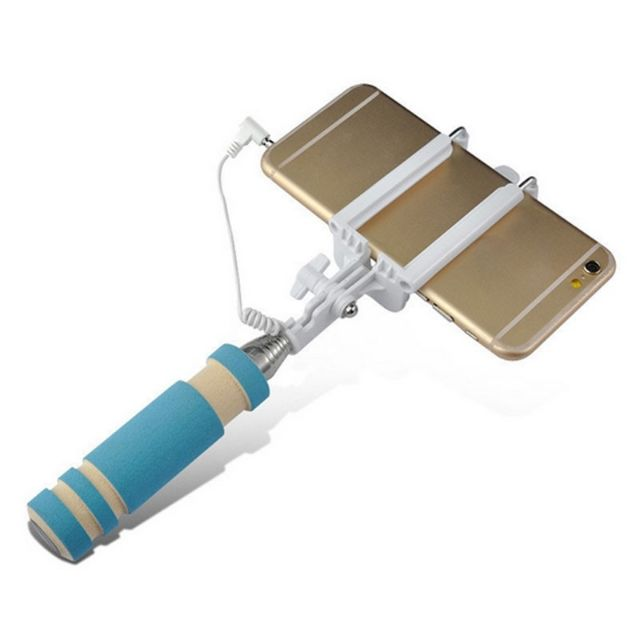 Wired Selfie Stick Handheld Monopod Extendable Fold