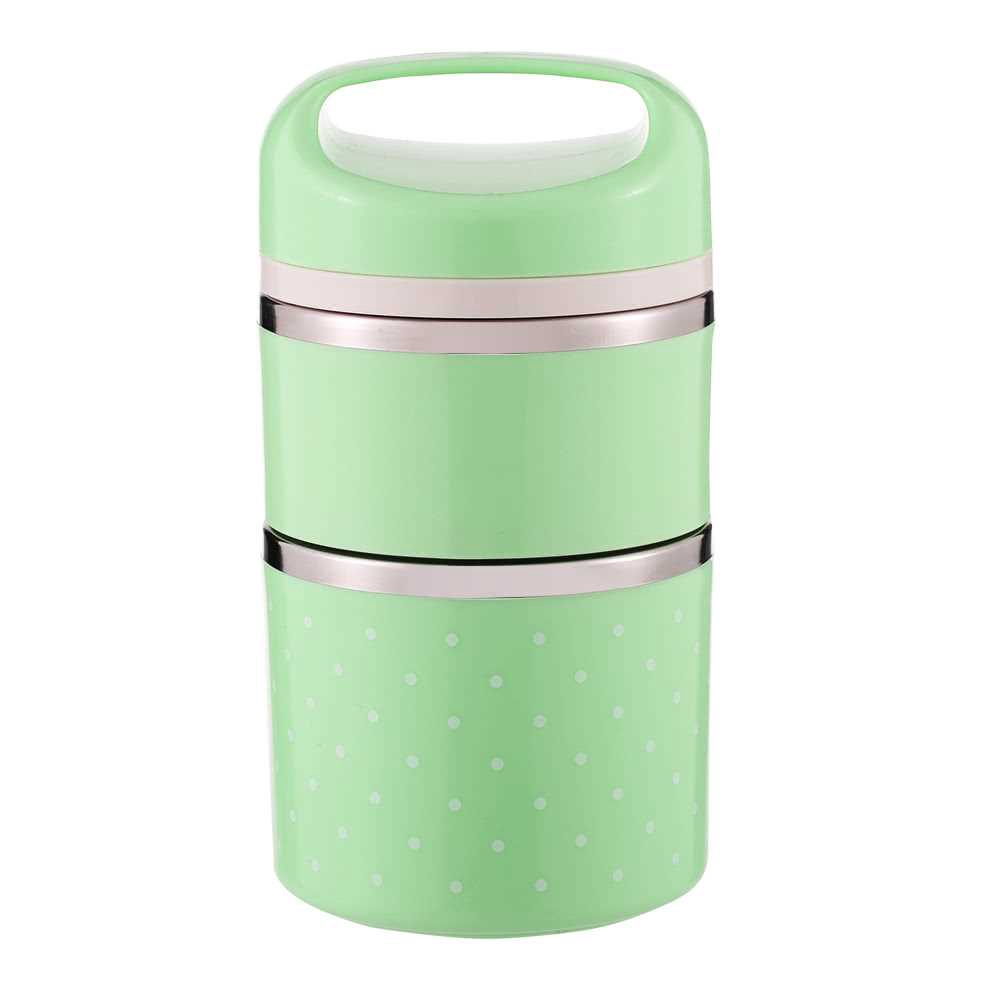 1080ml 2-Layer Good Quality Stainless Steel Thermal Lunch Box Practical Handy Insulation Lunch Box Multifunctional Heat