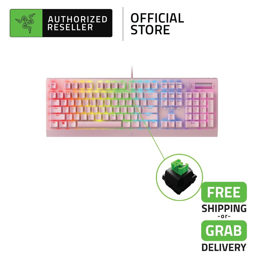 Razer BlackWidow V3 Quartz Mechanical Gaming Keyboard with Razer Chroma RGB
