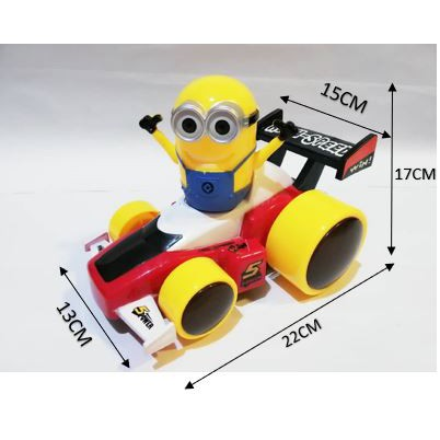 Minions Racing Car Toy 3D light and music, B/O and Omni-directional