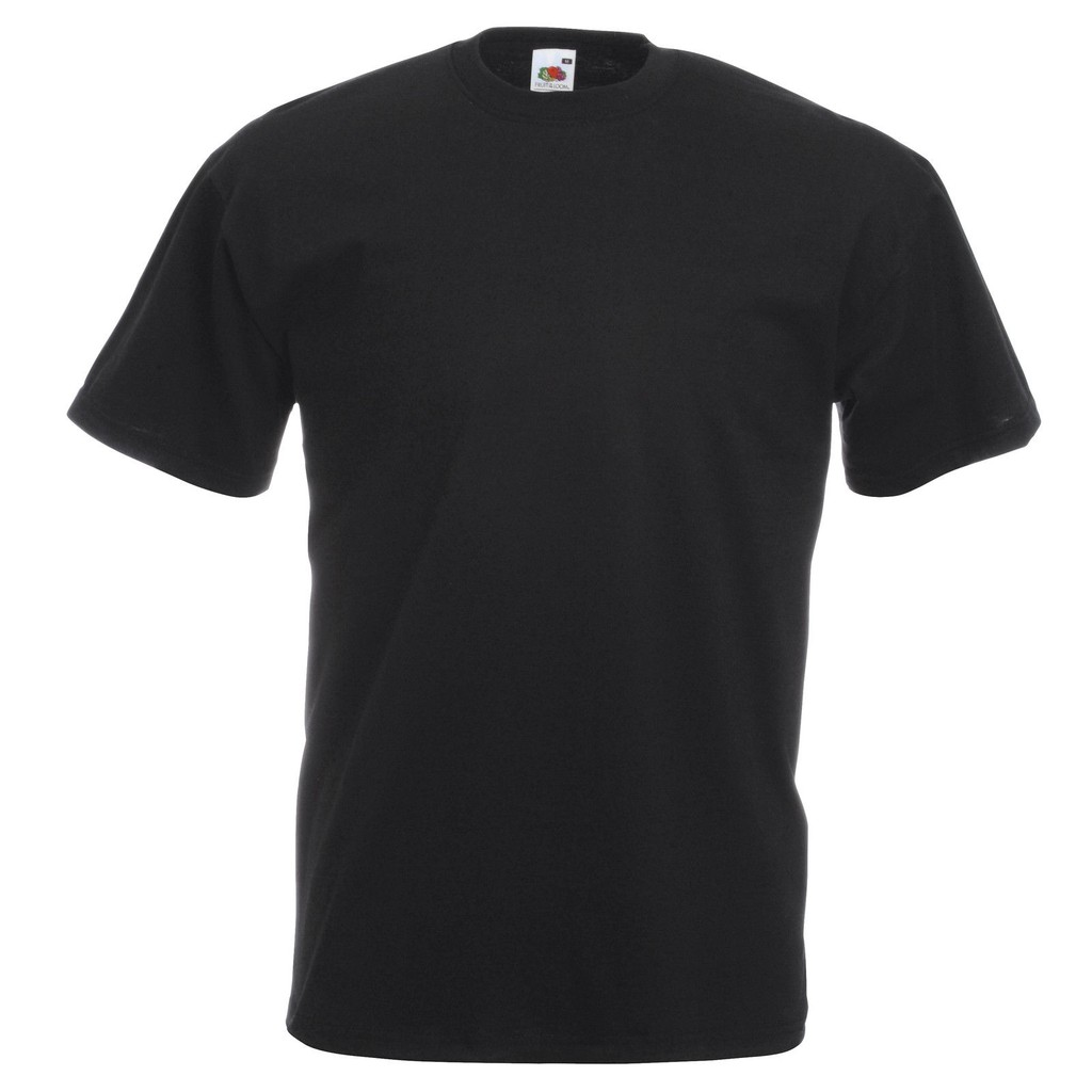 Navy Fruit of the Loom Blank Plain Heavy Cotton t-shirt Short Sleeve Top