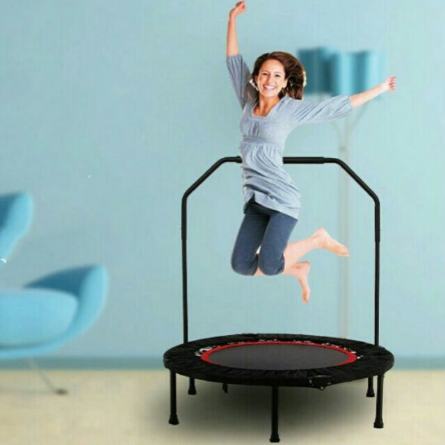 3b0dec8e9 Mamakiddies 60 Inch Foldable Adult Large Trampoline Rebounder ...