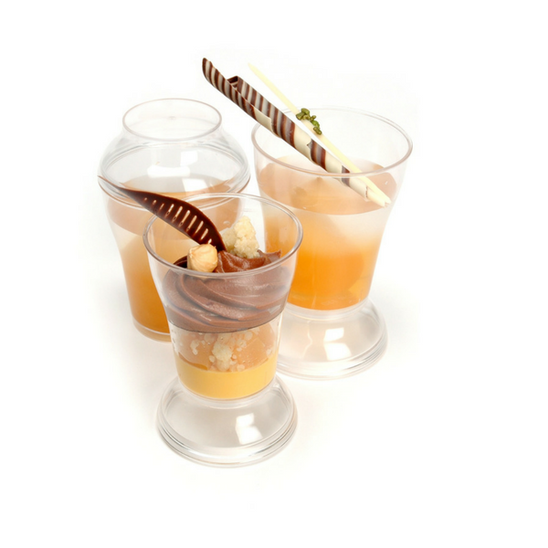 Pastry Pro, Dessert Cup With Cover Round, 100ml, 10 sets