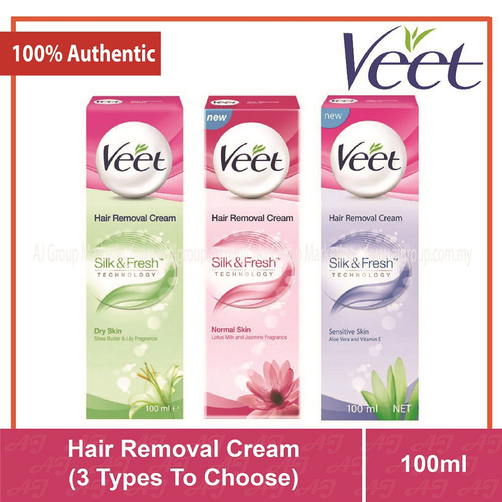 Veet Hair Removal Cream 100ml Dry Skin Normal Skin