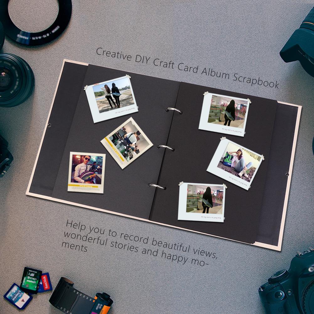 linen diy craft card album scrapbook simple loose leaf