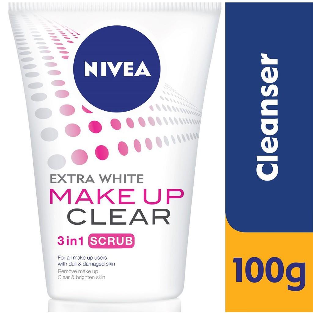 Nivea Extra White Repair Pore Minimiser Scrub (100g)