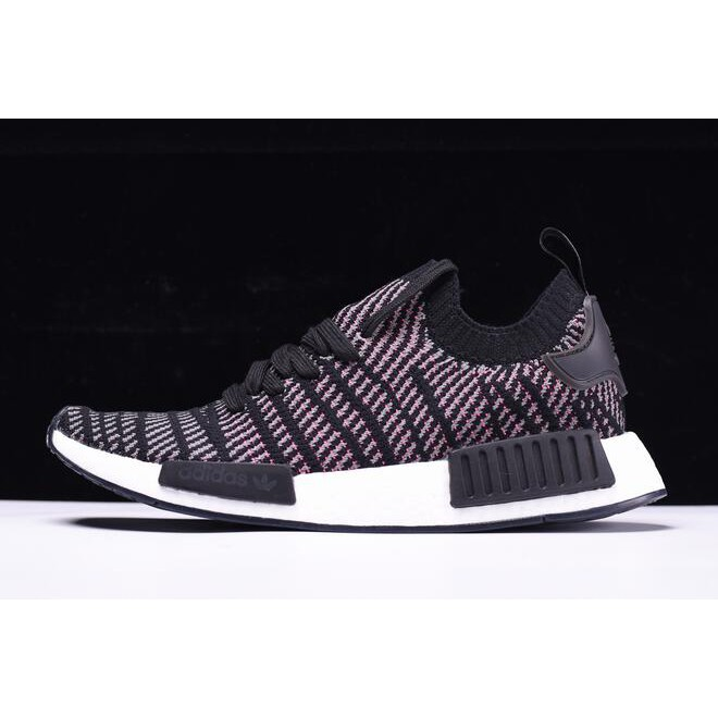 new product 26708 aa796 adidas NMD R1 STLT Primeknit Core Black/Pink-White CQ2386 Shoes