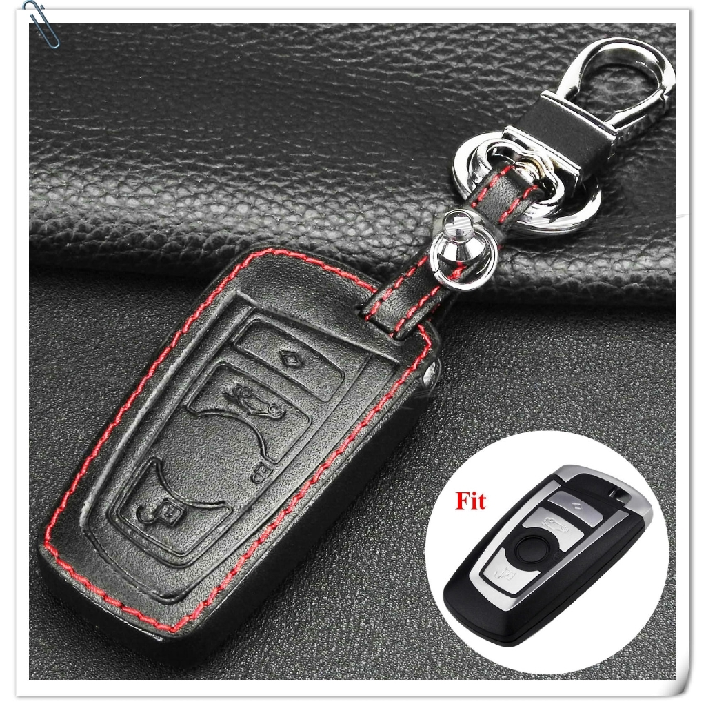 New Real Leather Remote Car Key Holders Rings for BMW New 1 3 4 5 7 Series X3 X4