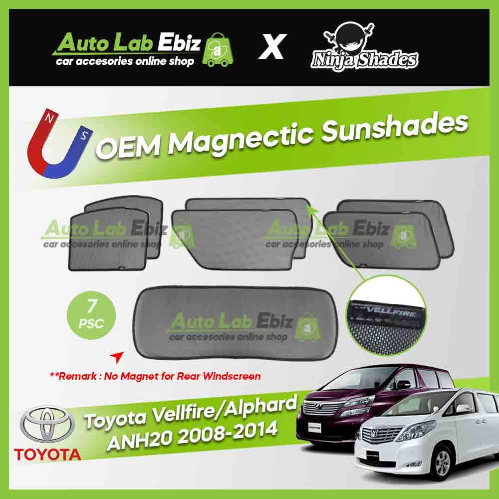 Toyota Alphard / Vellfire ANH20 Series 2008-2014 Ninja Shades OEM Magnetic Sunshade (7pcs)