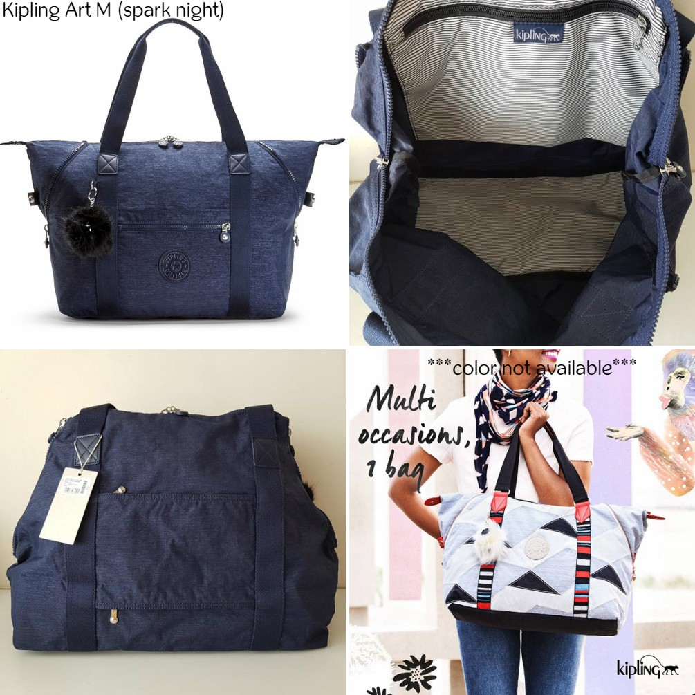 d01a19c169 NWT Authentic Kipling Art M Large Gym Bag Travel Carry On Tote w Trolley  Sleeve | Shopee Malaysia