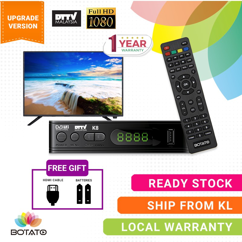 [[1 year Malaysia Local Warranty]]Mytv Decoder My Freeview TV Digital Set  up Box