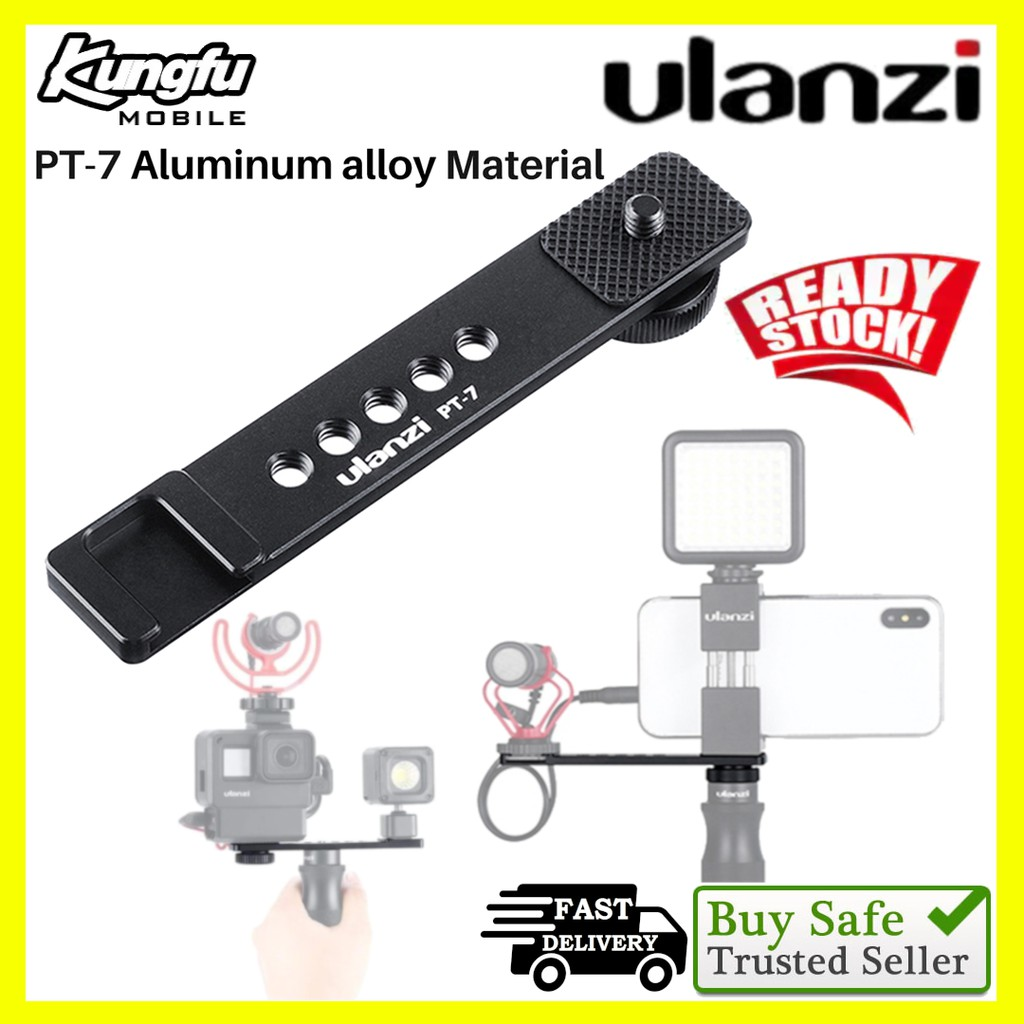 Ulanzi PT-7 Cold Shoe Stand Bracket Vlogging Microphone Extension Plate
