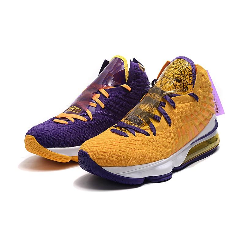 sostén mostrador Elocuente  Hot sale Nike Lebron 17 High Lakers Mandarin Duck Men's James 17 Basketball  shoes | Shopee Malaysia
