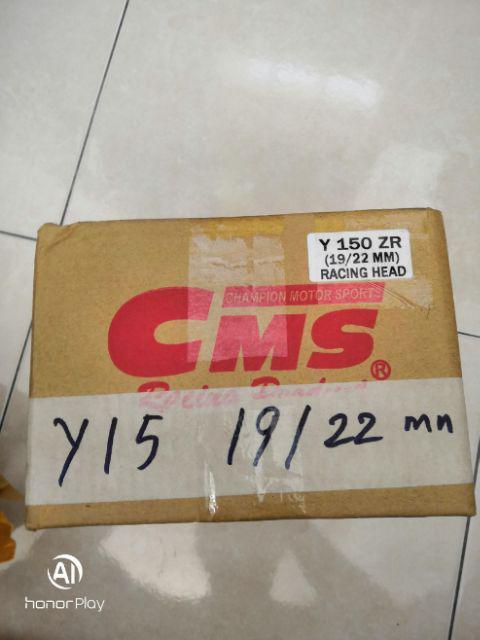 CMS Racing Head 22/19 Yamaha 135LC Y15ZR FZ150i NEW | Shopee
