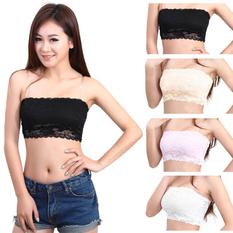 0942a2cc4648d Sexy Women Tube Underwear Strapless Bandeau Crop Bra Intimates Clothes Plus  Size
