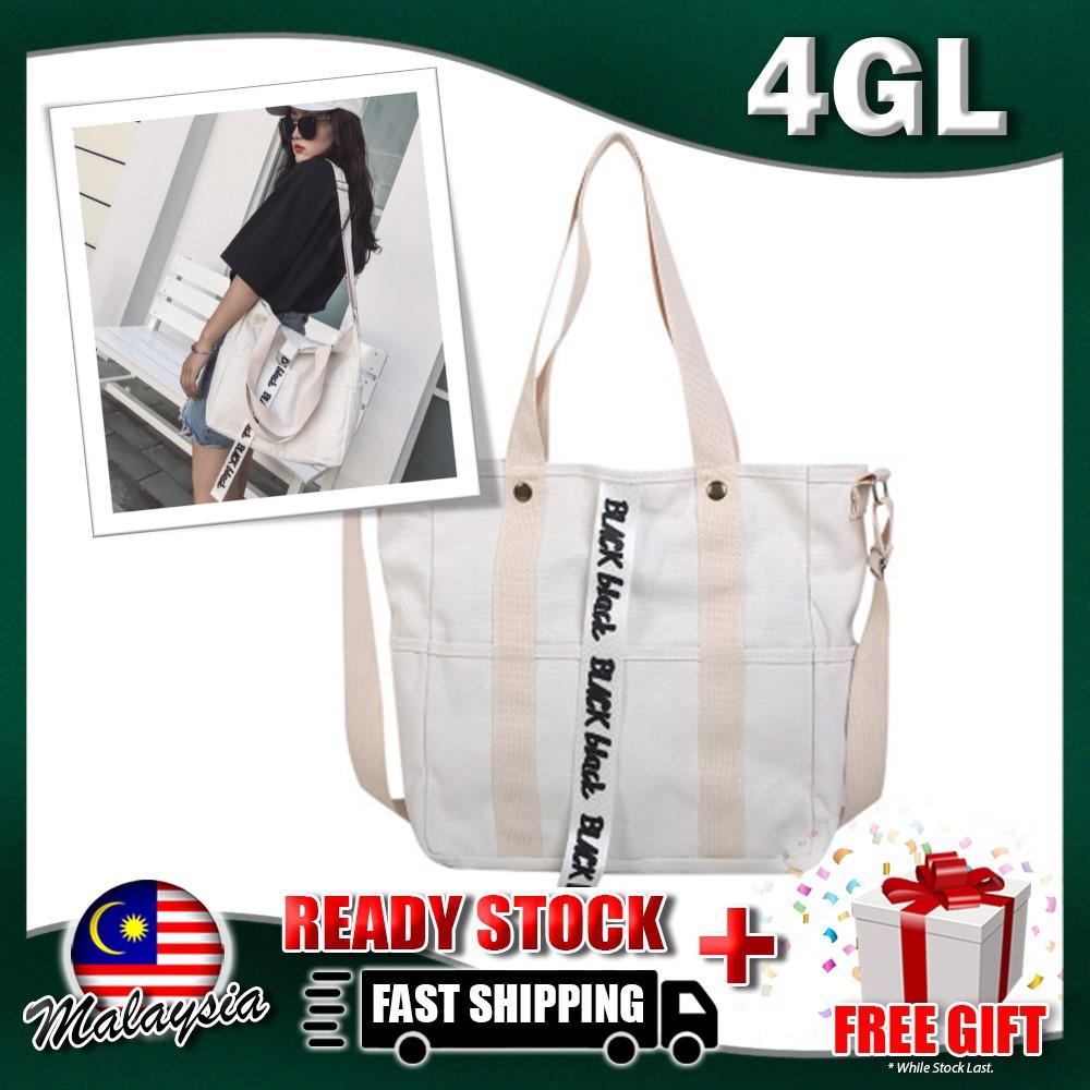 638f121e3339 4GL Black Black Tote Bag A0620 Women Korean Fashion Beg