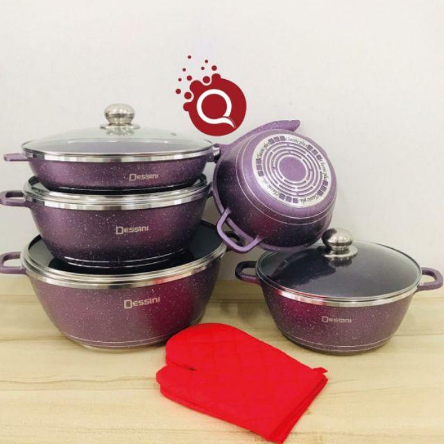 Set Periuk 12 Jenis Dessini Cookware Purple Shopee Malaysia