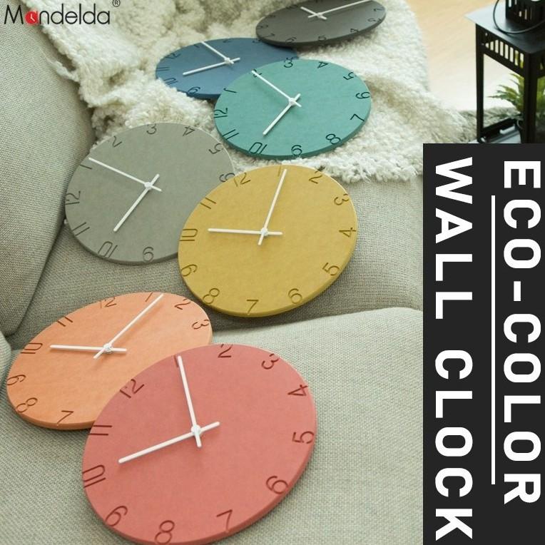 [Ready Stock] 28cm Round Wall Clock Rainbow Eco-Color Board Jam Dinding Bulat