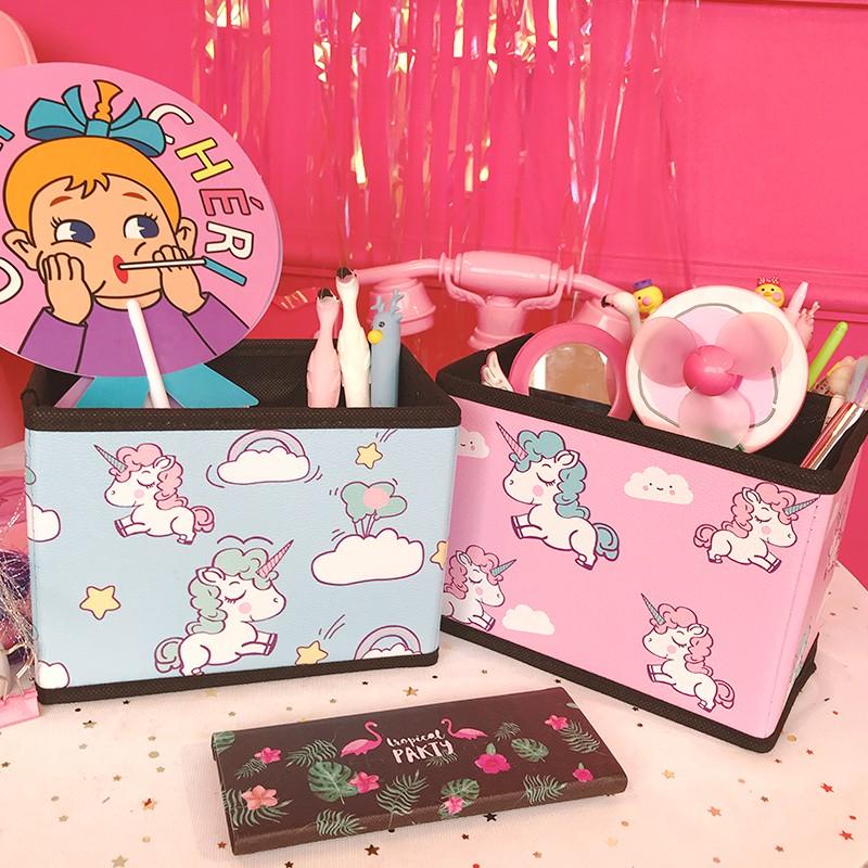 Cute Fashion Unicorn Storage Box Gift Box Office Home Storage