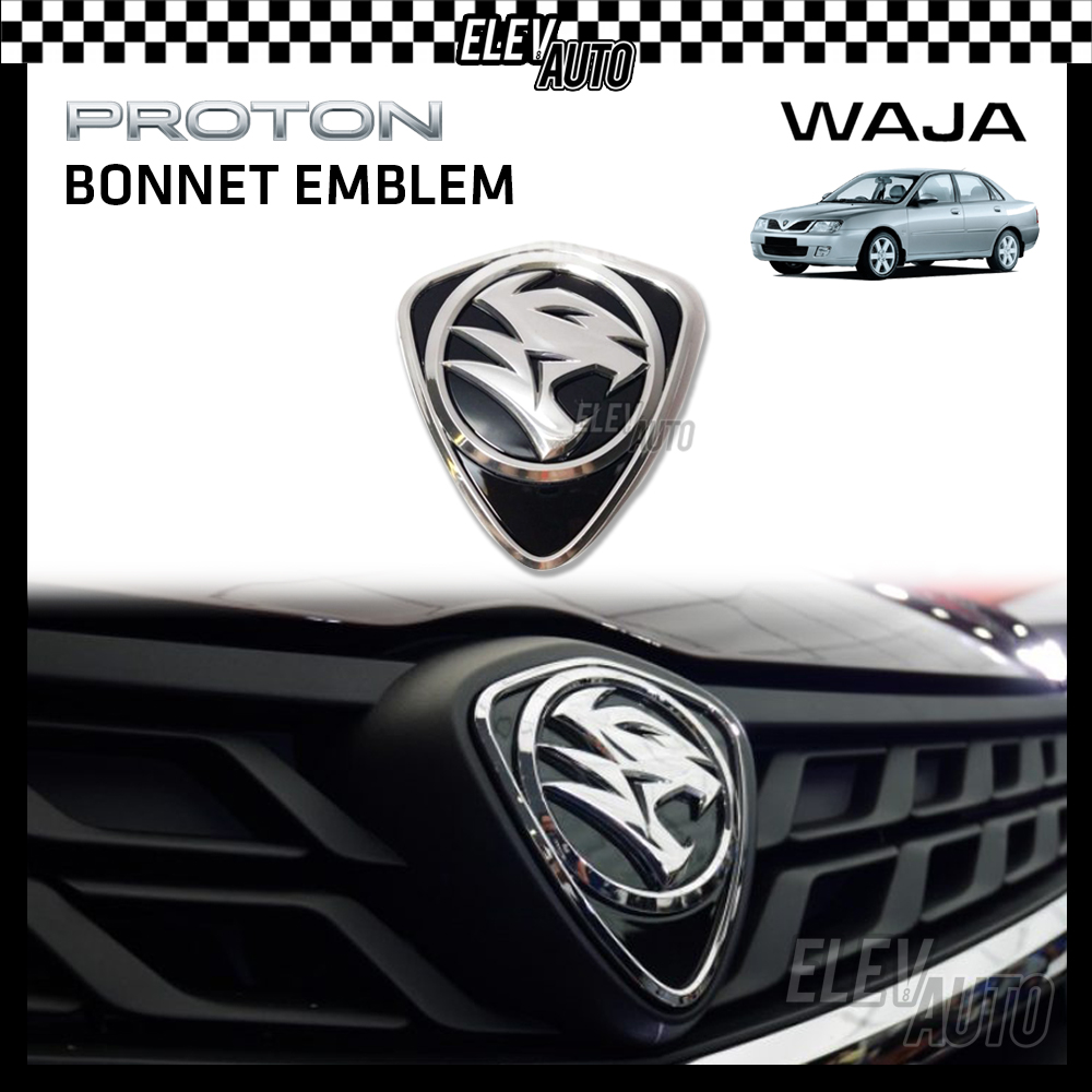 PROTON New Design Chrome Logo Emblem Front & Rear Waja