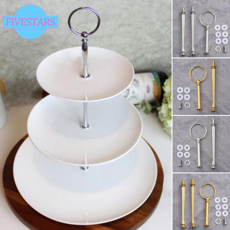 Display Plate stand 2//3 layers Cake Fitting Hardware Rod Fruit Cupcakes