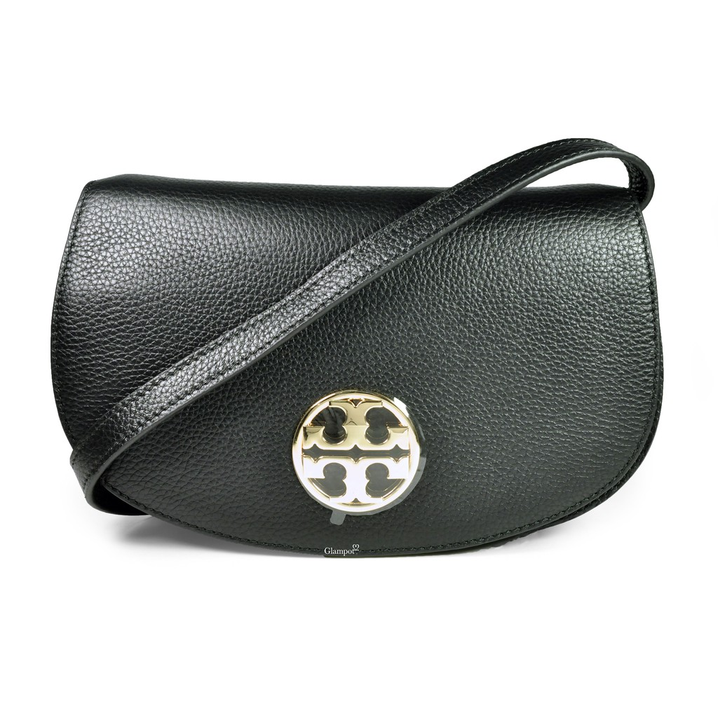 6ffde140a85a Tory Burch Peace Embellished Half-Moon Small Satchel in French Gray No.  36323