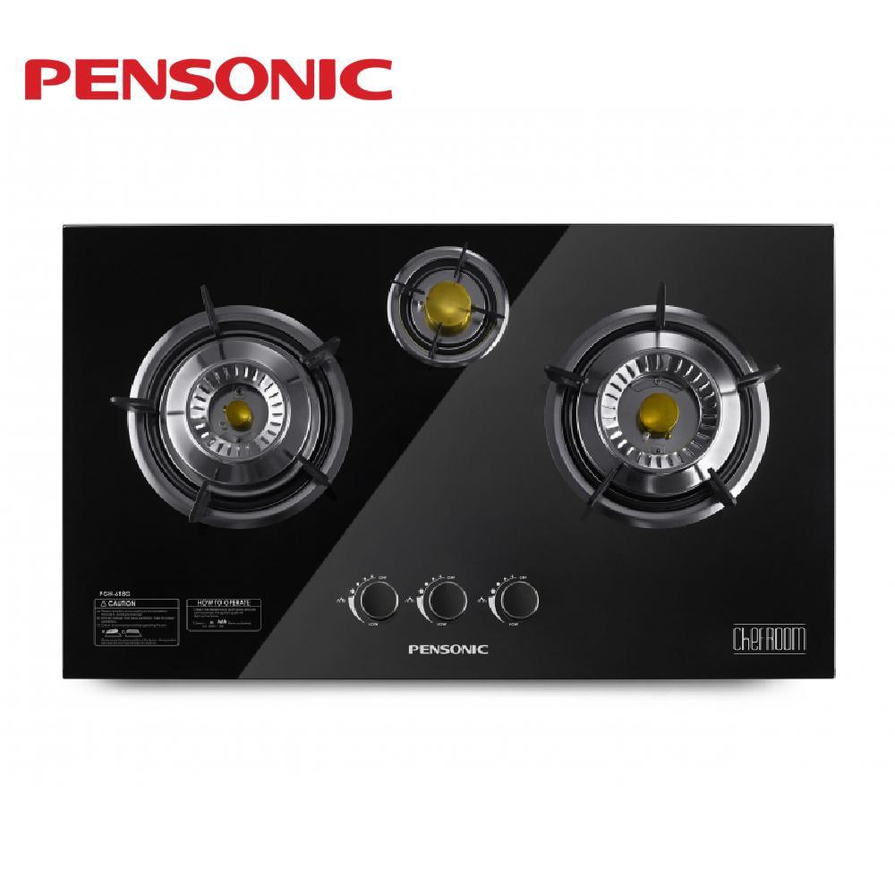 Pensonic 3 Burner Tempered Glass PGH-618G