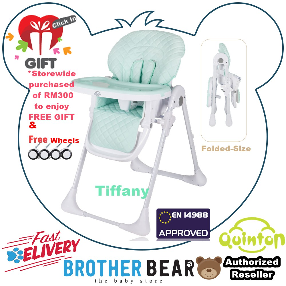 FREE SHIPPING Quinton Hancy Premium Multifunction Baby High Chair (1 YEAR WARRANTY) FREE GIFT - Tiffany - Brother Bear