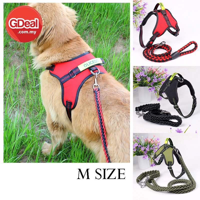 GDeal Comfortable Dog Chest Strap Pet Leash With Traction Rope Collar Tali Anjing (M size)  تالي انجيڠ