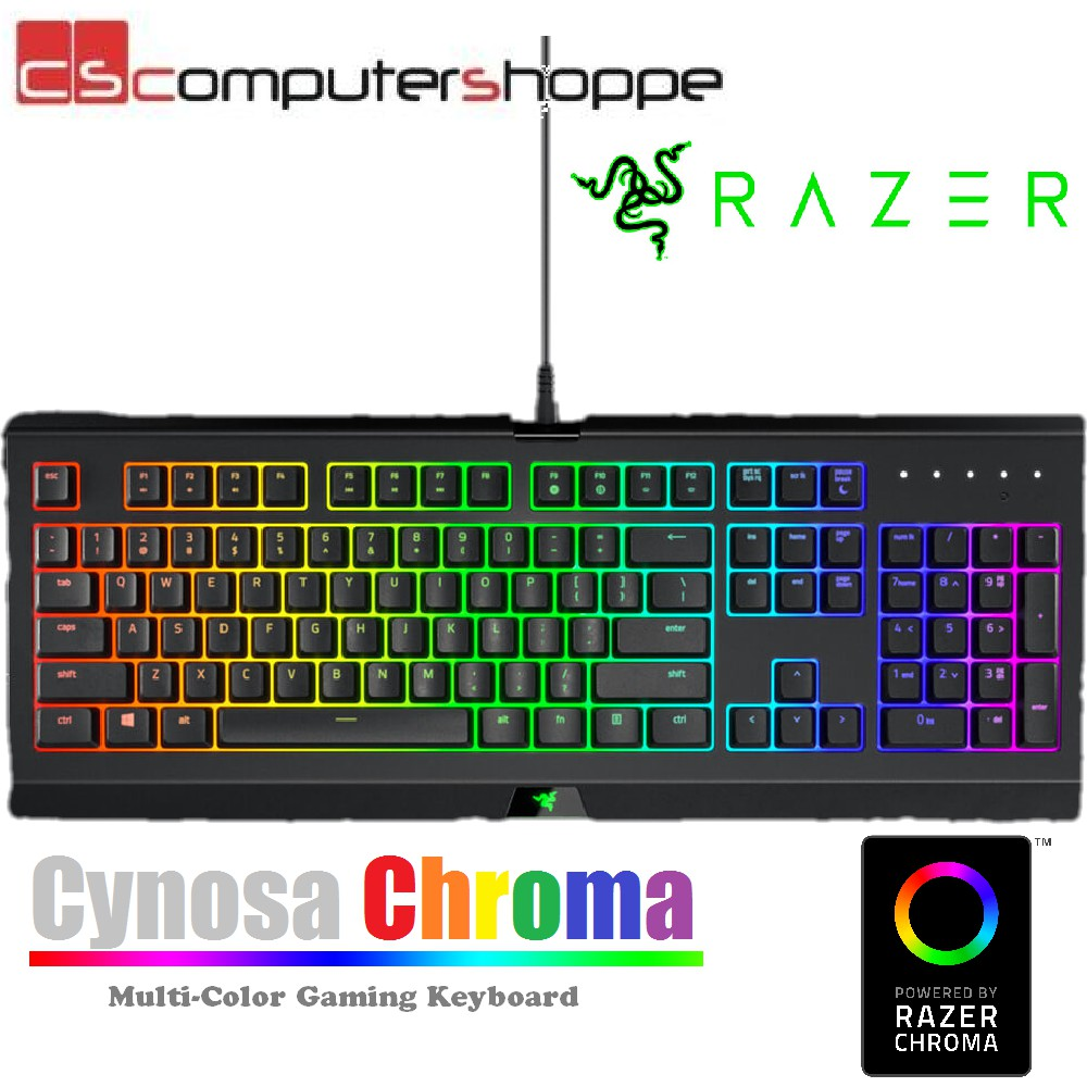 01830cf44af ProductImage. ProductImage. Razer Cynosa Chroma Multi-Color Gaming Keyboard