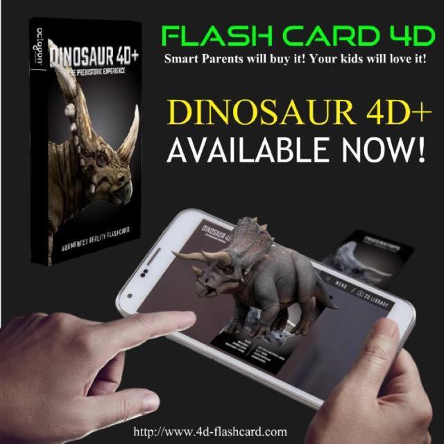 🔥HOT ITEM🔥 Flash Card 4D Dinosaur by Octagon Studio Malaysia   Shopee Malaysia