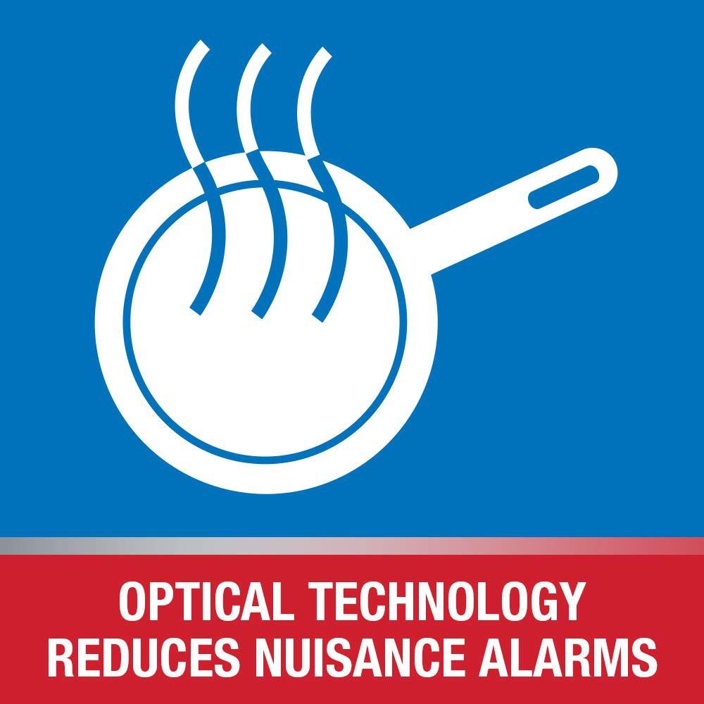 AA Battery Powered First Alert SCO5 Combination Optical Smoke Alarm /& Carbon Monoxide Detector