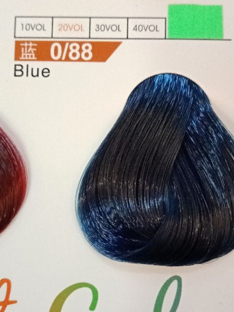Fabaole color (Blue.蓝色.0.88)100ml foc peroxide cream 100ml