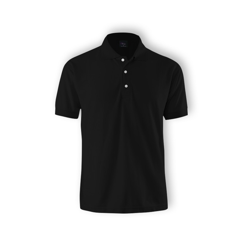 15d66a51b9cc Plain Black Lacoste Standard Polo Collar T-Shirt Size S-3XL