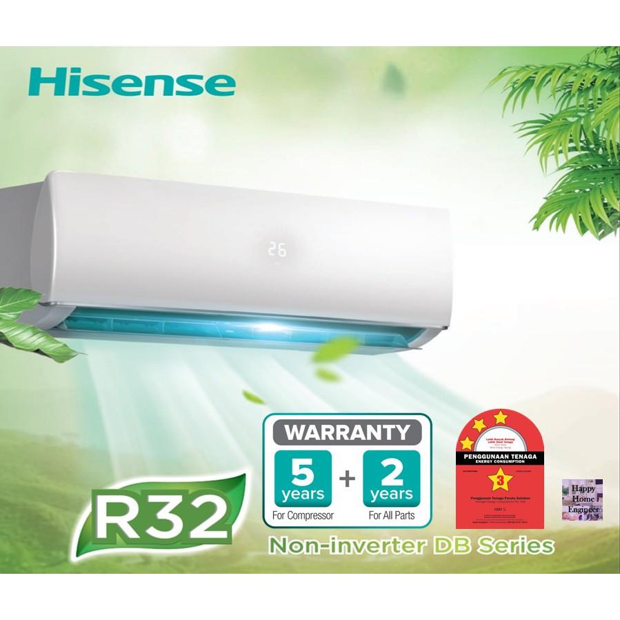 Hisense Standard Aircon 1.0HP AN10DBG (R32)