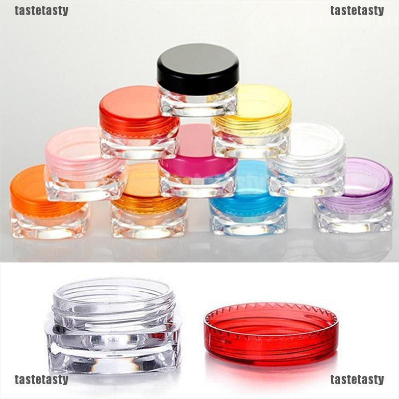 【Taste】3g 5g Cosmetic Empty Jar Pot Eyeshadow Makeup Face Cream Lip Balm Container Box