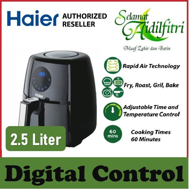 🔥SHIP IN 1 DAYS🔥 Haier 2.5L Digital Air Fryer - 4 Functions (Fry, Roast, Grill & Bake) - 60 Min Timer - HA-AF253